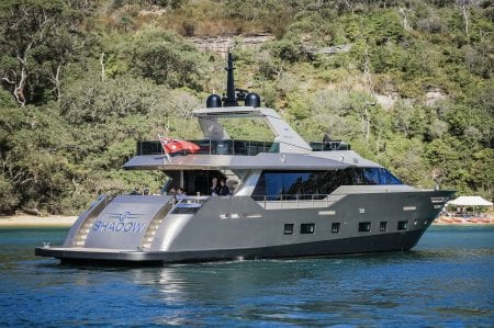 shadow superyacht charter luxury event sydney harbour ocean alliance australia