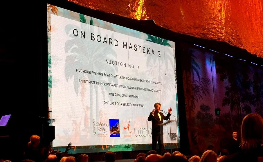 MASTEKA 2 superyacht charter sydney harbour charity prize