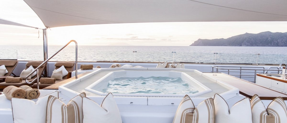 SURI superyacht charter south pacific fiji jacuzzi