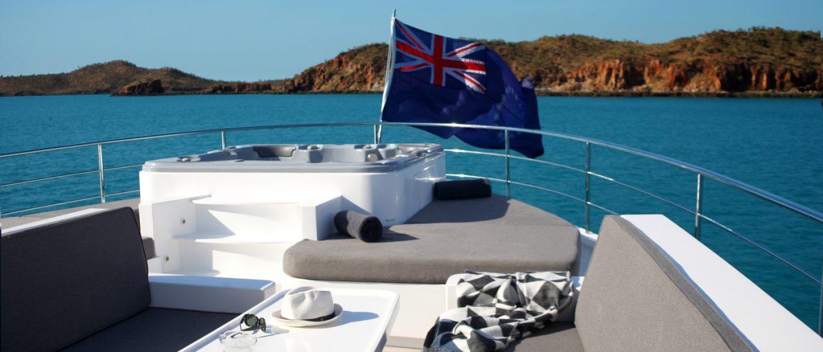 ANDA superyacht charter jacuzzi Australia