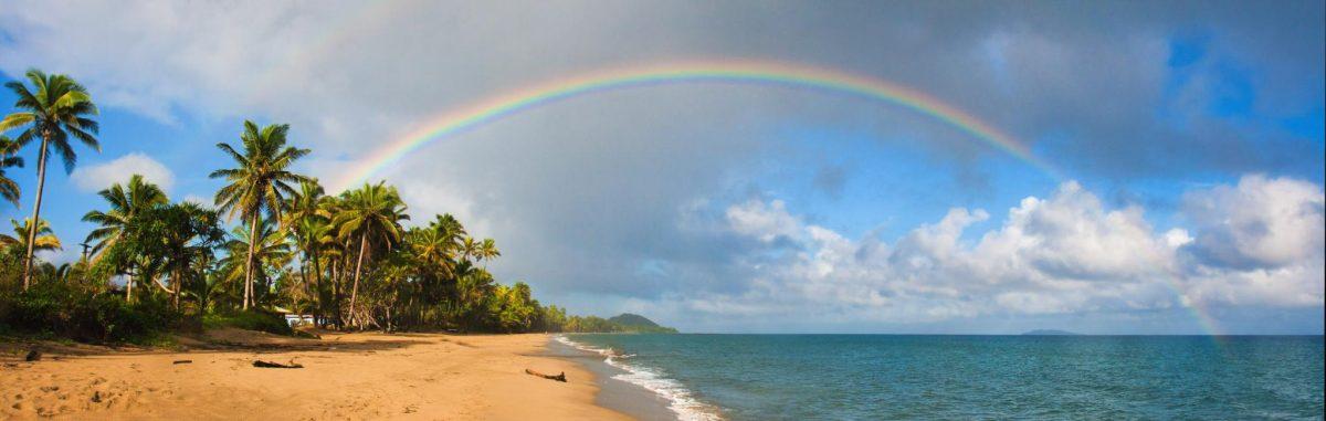 Fiji-Islands-Tropical-Beach-Paradise-Rainbow-Panorama