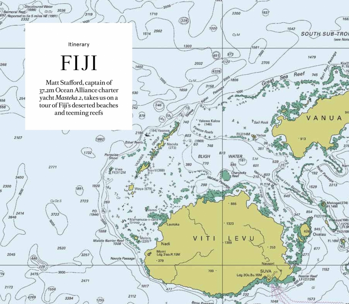 Fiji 7 day itinerary featured in boat international