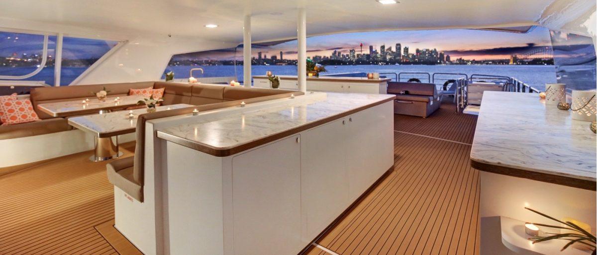 Superyacht CORROBOREE Ocean Alliance Sydney Harbour Australia experience yachting