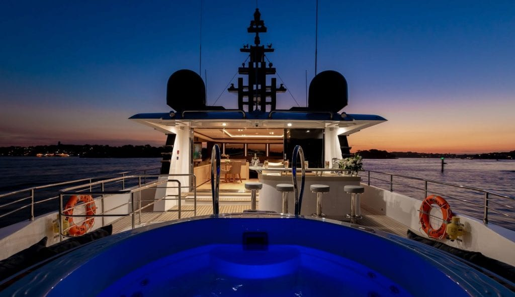 Superyacht experience onboard ONEWORLD in the Whitsundays