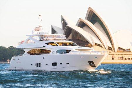 Yacht Chaos superyacht sunseeker charter Australia ocean alliance
